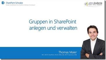 Gruppen in SharePoint anlegen und verwalten