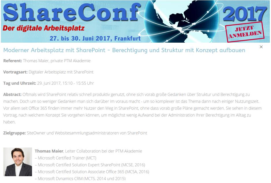 ShareConf 2017