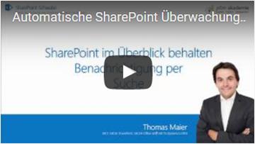 Automatische SharePoint Überwachung -Benachrichtigung für die Suche