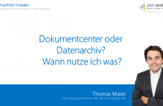 Dokumentcenter oder Datenarchiv? - Wann nutze ich was?