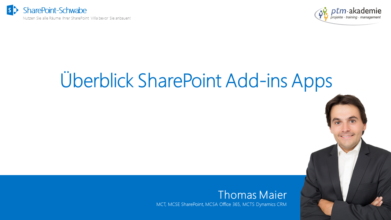 Überblick SharePoint Add-ins Apps