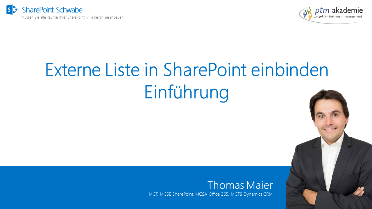 Externe Liste in SharePoint einbinden - Einführung