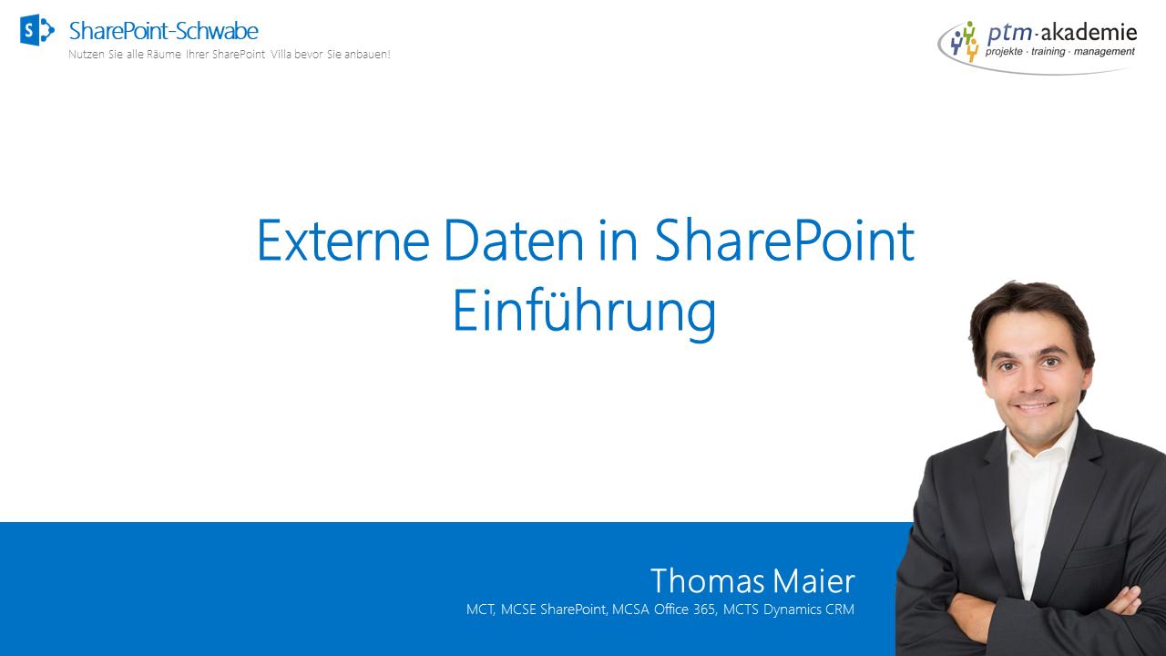 Externe Daten in SharePoint - Einführung