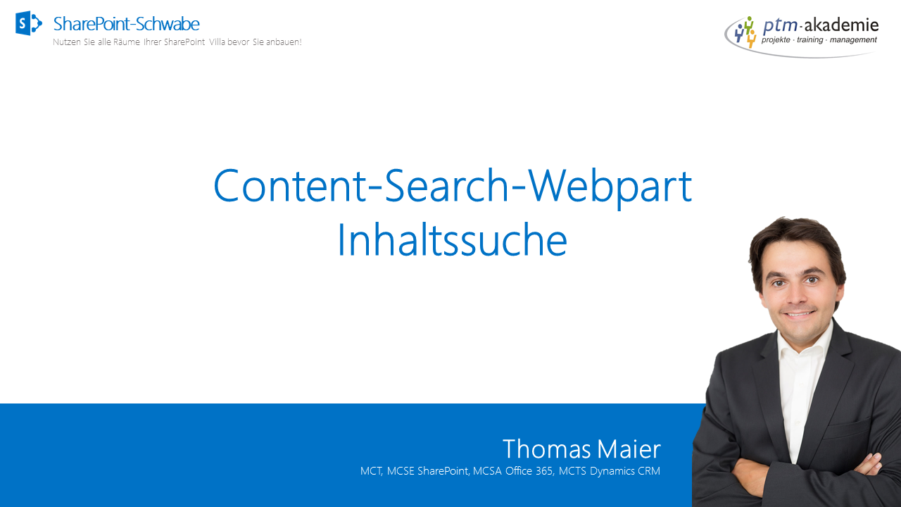 Content-Search-Webpart - Inhaltssuche